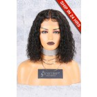 Textured Natural Curls Bob Lace Front Wig [Advanced Pre-Bleached Knots,Pre-Plucked Hairline,Removable Elastic Band]