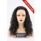 Super Deal Lace Front Wig,Indian Remy Hair Natural Color,16 inches Curly 130% Normal Density, Average Size,Transparent Lace [Pre-Bleached Knots,Pre-Plucked Hairline]