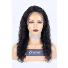 Affordable Full Lace Wig Deep Body Wave, Indian Remy Human Hair 18 inches, Medium  Cap Size,120% Normal Density, Adjustable Straps