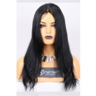 Clearance Glueless Full Lace Wig,Indian Remy Hair Straight,1# 16 inches,120% Normal Density,Medium Size, Medium Brown Lace