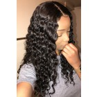 Aliyah-Deep Wave Silk Top Lace Front Wig,Indian Remy Hair Middle Part
