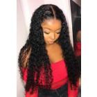 "Tiana--Invisible HD Transparent Lace,Single Knots,6"" Lace Frontal Wig,100% Cuticles Aligned Virgin Hair,Curly Style,Removable Elastic Band"