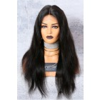 "Silky Straight 13""x6"" Deep Part Lace Frontal Wig,Indian Remy Hair 150% Thick Density"