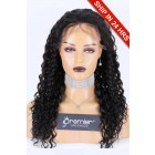 Glueless Lace Front Wig Big Curl,Chinese Virgin Hair 20 inches,1B#,180% Thick Density,Average Size
