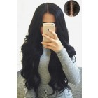 "Gorgeous Wavy 4.5"" Super Deep Middle Part Human Hair Lace Front Wigs,Pre-Plucked Hairline"