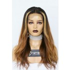 Lauren-- Ombre Style Virgin Hair Lace Wig,150% thick density, Pre-bleached knots,Removable elastic band