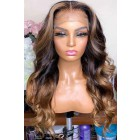 Blonde Highlights Ombre Wavy Human Hair 13