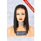 "A-Line Cut Bob Style 4.5"" Lace Front Wig,Deep Middle Part,Pre-Plucked Hairline"