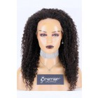 """Transparent HD 13""""*3"""" Lace Frontal Wig Kinky Curly,100% Cuticles Aligned Virgin Hair, Natural color 20 inches 200% Extra Thick Density,Average Size,Pre-bleached knots"""
