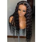 Real Scalp Silk Top Lace Front Wig, Brazilian Virgin Human Hair Deep Wave