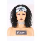Human Hair Glueless Headband Wig Quick Protective Style Deep Curls, Average Size