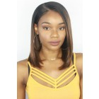 "Brown Ombre Bob 13""x4.5"" Lace Frontal Wig,C Side Part Style [Pre-Bleached Knots,Pre-Plucked Hairline,Removable Elastic Band]"