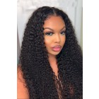 "Kinky Curly Hair 13""x6"" Lace Frontal Wig [Pre-Bleached Knots,Pre-Plucked Hairline,Removable Elastic Band]"