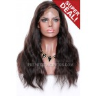 1B/33# Highlights Color Full Lace Wigs Indian Remy Human Hair Natural Straight,120% Density,Light Brown Lace