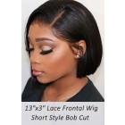 "Bone Straight Bob Cut 13""x3"" Lace Frontal Wig Indian Remy Hair"