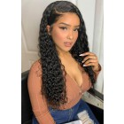 """Loose Curls 4.5"""" Lace Front Wig,Indian Remy Hair,Pre-Plucked Hairline"""