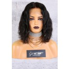 "13""x6"" Lace Frontal Wig,Middle Part Wavy Bob Style,12"" 150% Thick Density   [Advanced Pre-Bleached Knots,Pre-Plucked Hairline,Pre-Added Removable Elastic Band]"