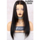 """Destiny--Invisible Knots Transparent HD Lace,Yaki Straight 6"""" Lace Frontal Wig,100% Cuticles Aligned Virgin Hair,Removable Elastic Band { Not In Stock,Production Time 90 working days }"""