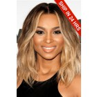 Ciara Bob Style Lace Front Wig,Virgin Hair Ombre Blonde Color