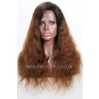 Brown Ombre Hair Natural Straight Lace Front Wigs,Average Size,Light Brown Lace