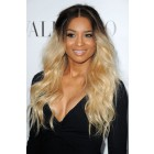 Ciara Casual Long Wavy Dark To Light Ombre Human Hair Lace Front Wigs{Not In Stock, Production Time 40 working days}