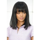 "Rihanna Cute Short Bob Full Bangs 13""x3"" Lace Frontal Wig, Virgin Human Hair 150% Thick Density"