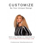 Customize A Unique Wig With Your Head Measurements, Extra $50 Will Be Charged