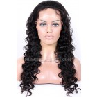 Indian Remy Hair Full Lace Wigs Deep Body Wave