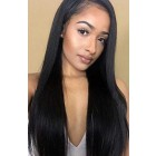 "Relaxed Hair Yaki Texture 13""x4.5"" Lace Frontal Wig, C Side Part, Indian Remy Hair, Pre-plucked Hairline"