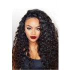 Permanent Root To Tip Loose Curls Lace Front Wig,20 inches. [Advanced Pre-Bleached Knots,Pre-Plucked Hairline,Pre-Added Removable Elastic Band]