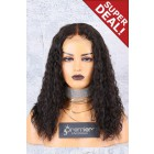 Deep Middle Part Lace Front Wig,Long Bob Cut Permanent Root To Tip Loose Curls,Average Cap Size