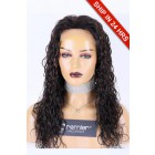 Silk Top Full Lace Wig Natural Curls, Indian Remy Human Hair 1B/30# Highlights 18 inches 120% Medium size