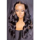 Gorgeous Waves Transparent Lace 360 Lace Wigs,Indian Remy Human Hair Pre-plucked Hairline