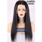 "Naomi--Invisible Knots,Super Thin Transparent HD Lace,13""x 6"" Lace Frontal Wig,Indian Remy Hair,Silky Straight, Pre-Plucked Hairline, Removable Elastic Band"