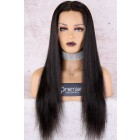 "Alyssa--Invisible HD Transparent Lace,Single Knots,6"" Lace Frontal Wig,100% Cuticles Aligned Virgin Hair,Silky Straight,Removable Elastic Band"