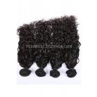 Peruvian Virgin Hair Natural Color Loose Curl Hair Extension 4 Bundles Deal