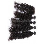 Peruvian Virgin Hair Loose Curl A Lace Closure With 4 Bundles Deal