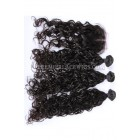 Peruvian Virgin Hair Loose Curl A Lace Closure With 3 Bundles Deal
