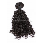 Natural Color Peruvian Virgin Hair Wefts Candy Curl