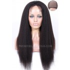 Custom Made Scalp Silk Top Full Lace Wigs 100% Hand-Tied, Brazilian Virgin Human Hair Kinky Straight  [Production Time 90 working days]