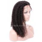 Kinky Curl Glueless Lace Front Wigs Malaysian Virgin Hair