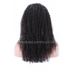 Brazilian Virgin Hair Kinky Curl Glueless Full Lace Wigs