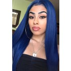 "Colored Human Hair 4.5"" Lace Front Wigs Indian Remy Hair Silky Straight"