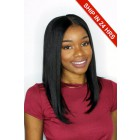 Affordable Lace Wigs Middle Part Bob Indian Remy Hair Yaki Straight