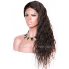 Natural Wave Chinese Virgin Hair Glueless Lace Front Wigs