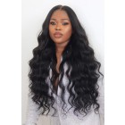 "Peakmill Style Gorgeous Long Wavy 6"" Deep Middle Part 360° Lace Wigs,Indian Remy Hair,150% Thick Density,Pre-Plucked Hairline,Removable Elastic Bands"