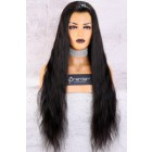 "Full Lace Wig Long Hair 28"", Natural Straight 150% Thick Density,Pre-plucked hairline"