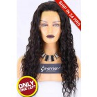 HD Transparent Lace Glueless Full Lace Wig,Brazilian Virgin Hair 22nches,Natural Color,Sexy Wavy,130% Density,Pre-plucked Hairline.Average Size