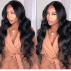 """Body Wave 13""""x6"""" Deep Part Lace Frontal Wig,Indian Remy Human Hair [Pre-bleached knots only for natural black,Pre-plucked hairline,Removable elastic band]"""