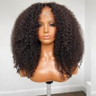 Affordable Scalp Silk Top Middle Part Wig Kinky Coily Indian Remy Human Hair